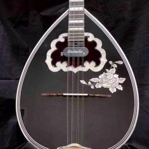 Traditional 8-string Custom bouzouki Black