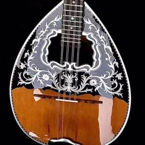 Traditional 8-string Custom bouzouki Black Wood